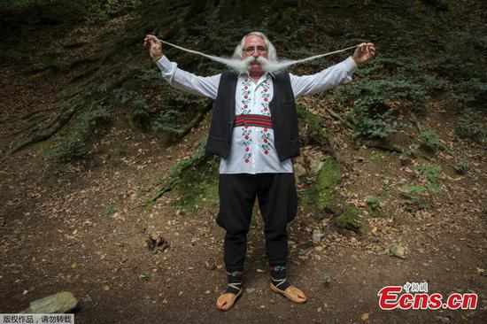 Longest moustache competition held in Serbia