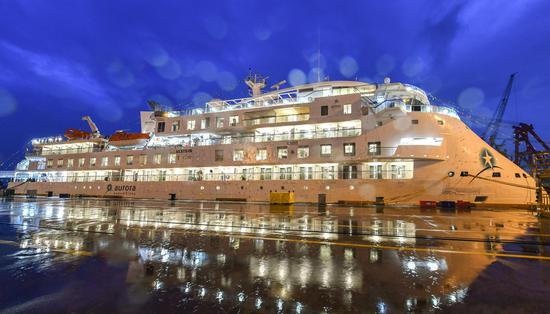 First Chinese-made polar cruise ship handed to U.S. company