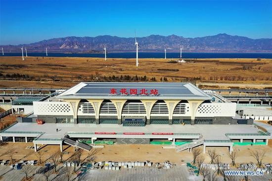 Decoration of Donghuayuanbei Station along Beijing-Zhangjiakou high-speed railway finished