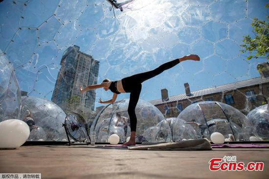 Outdoor hot yoga domes popping up in Toronto