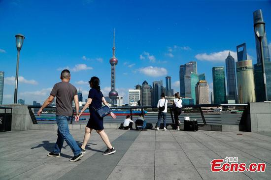 Temperature in Shanghai breaks record over same period